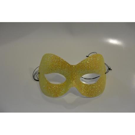 masque paillette jaune