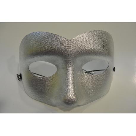 masque tissu argent