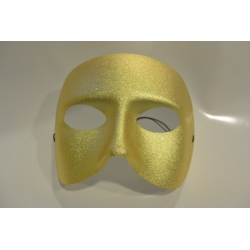 Demi masque tissu or