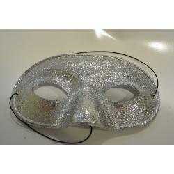 masque paillette argent