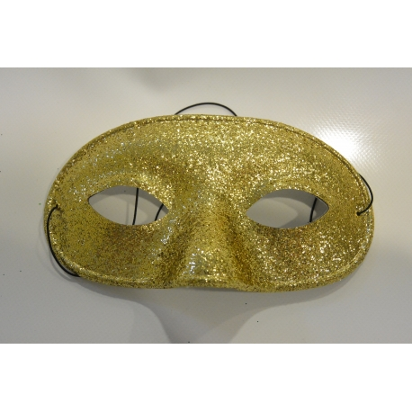 masque paillette or