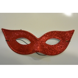 masque paillette rouge