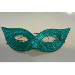 masque paillette bleu