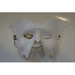 masque papillon blanc