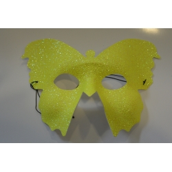 masque papillon jaune