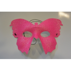 masque papillon rose