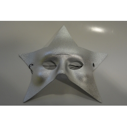 masque étoile argent