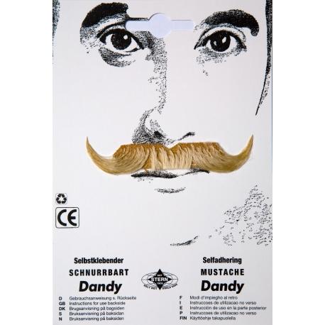 Moustache dandy blond