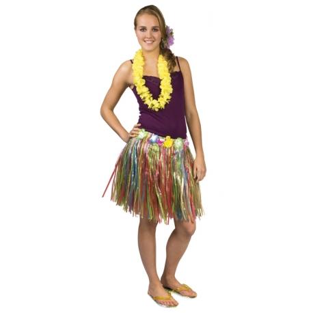 jupe hawaii à fleur multi