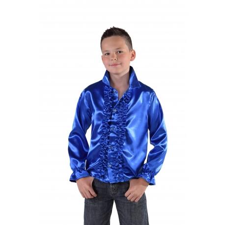 Chemise disco enfant bleu