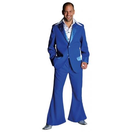 Déguisement disco homme bleu