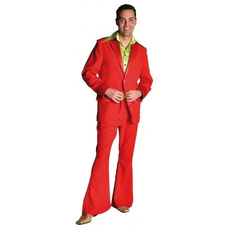 Déguisement disco homme rouge