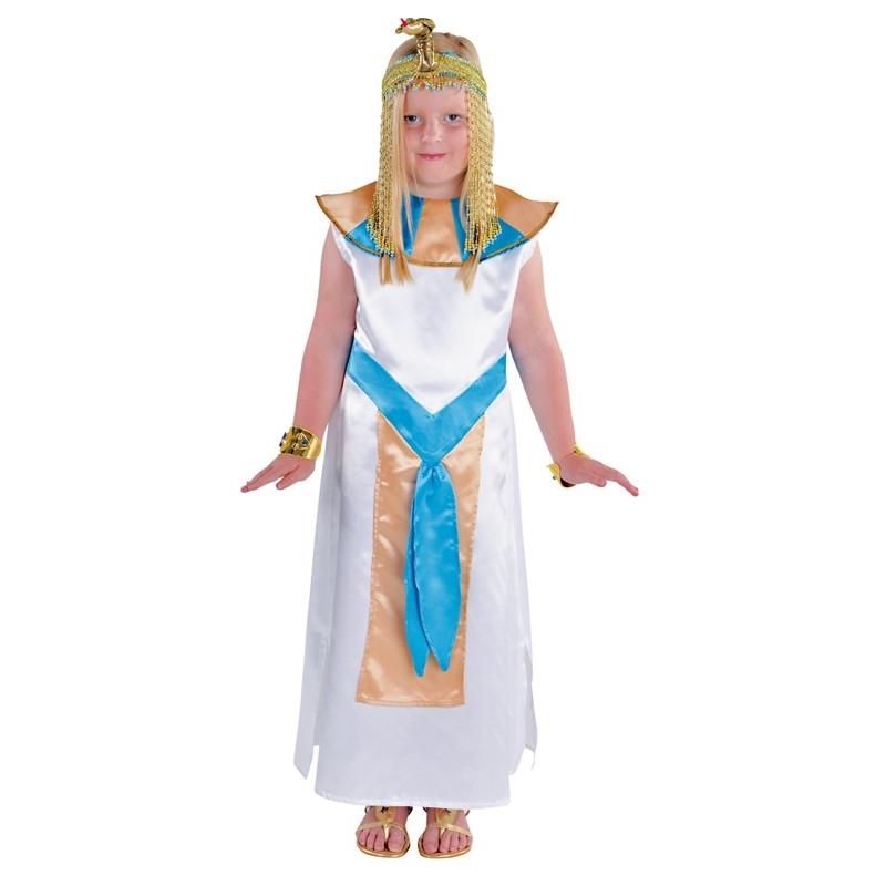 costume egyptien enfant,deguisement de prince egyptien blancbleuor enfant