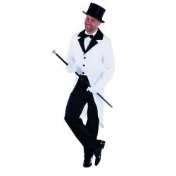 Déguisement veste queue de pie blanc