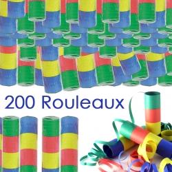 Rouleaux de serpentins papiers  par 200 pieces