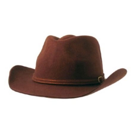 Chapeau cowboy luxe brun