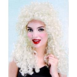 Perruque de dame crolée blonde