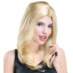 Perruque de dame longue blonde