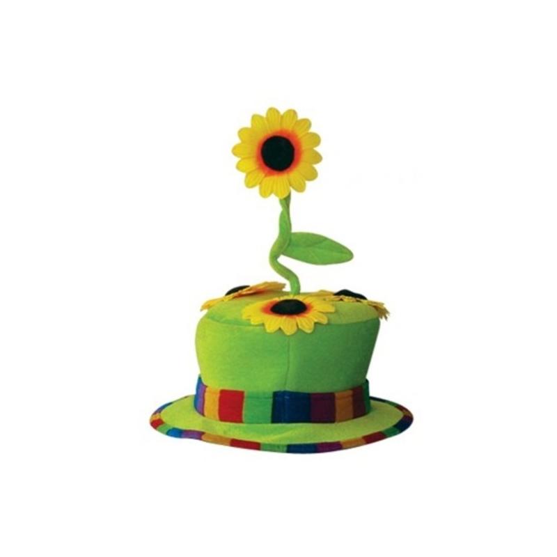 chapeau clown fleur vert - festival center
