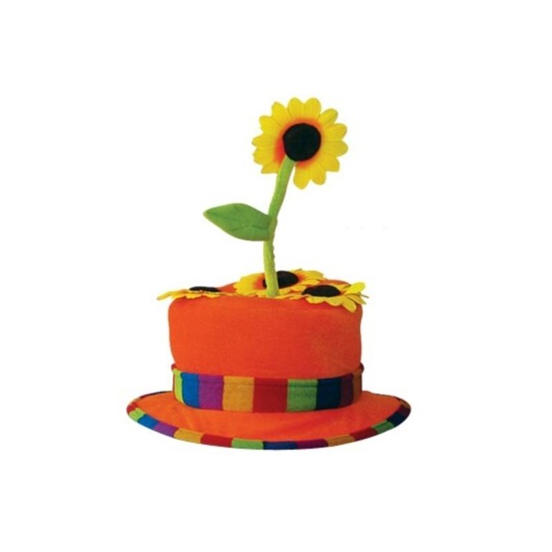 chapeau clown fleur orange - festival center