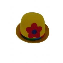 Chapeau clown jaune