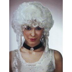 Perruque de marquise blanche