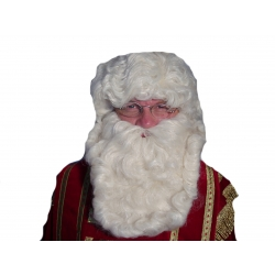 Perruque et barbe de Saint-Nicolas luxe
