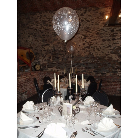 Bouquet de table deux ballons