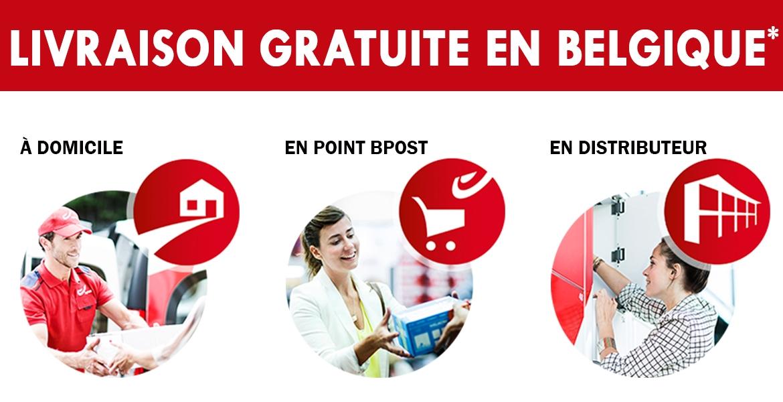 Livraison gratuite en Belgique