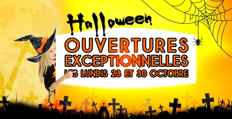 Halloween chez Festival Center ouvertures  exceptionnelles les lundis 23 et 30 octobre