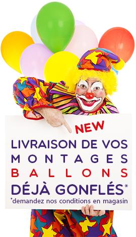 Livraison Ballons déjà gonflés