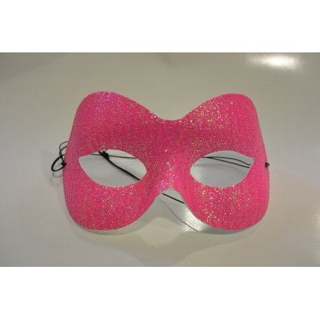 masque paillette rose