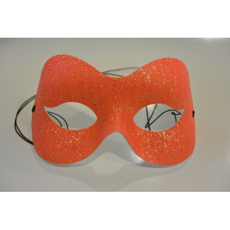 masque paillette orange