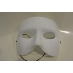 Demi masque blanc