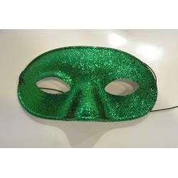 masque paillette vert