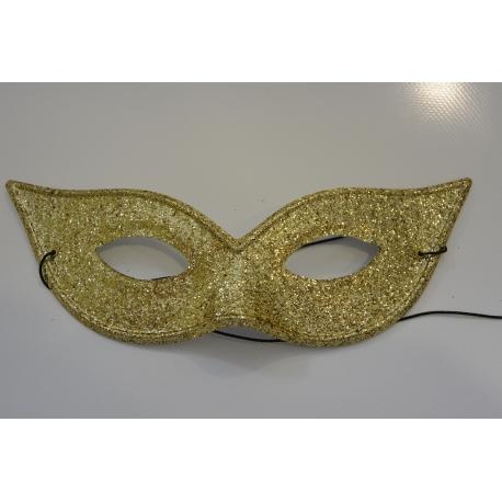 masque paillette or