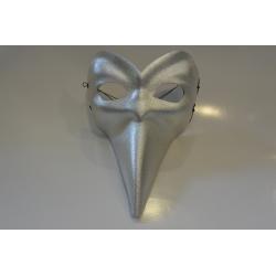 masque long nez argent