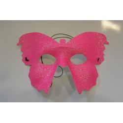 masque papillon rose