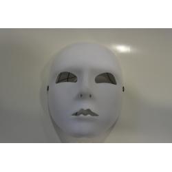 masque neutre blanc tissu