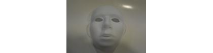 masque neutre blanc plastique