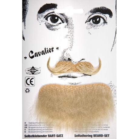 Moustache cavalier blond