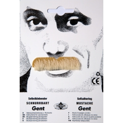 Moustache gent blonde