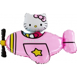 Hello kitty sur avion