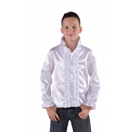 Chemise disco enfant blanche