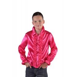 Chemise disco enfant fushia