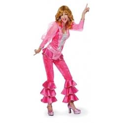 Déguisement disco femme rose