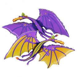ballon dragon mauve
