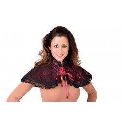 couvre épaule noir et rouge