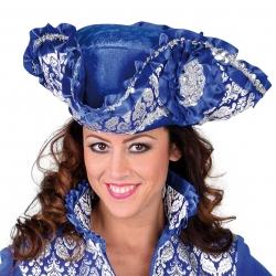 tricorne luxe bleu