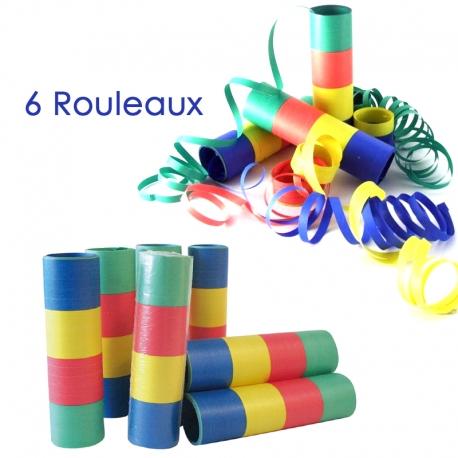 Rouleaux de serpentins papiers  par 6 pieces